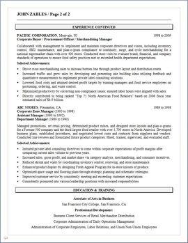 resume procurement manager procurement manager cv template job