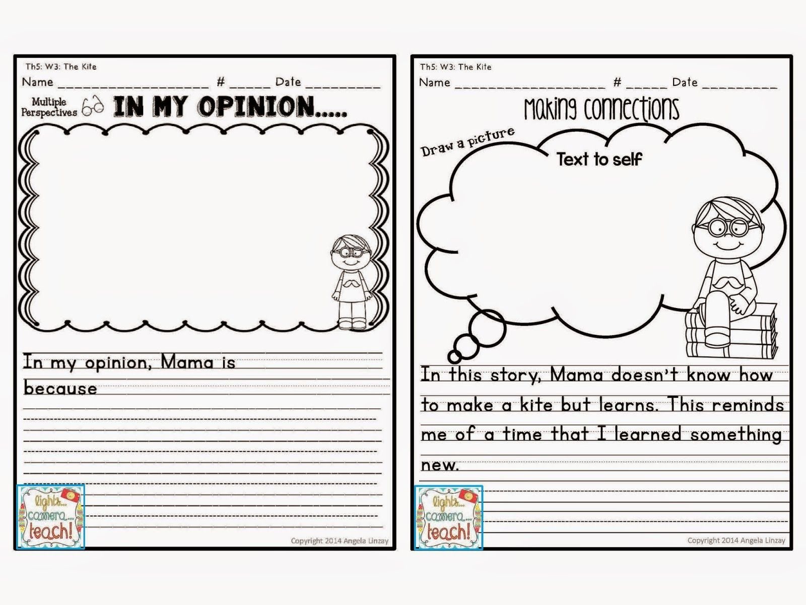 Every Story Has An Opinion Writing And A Text Connection Worksheet Perfect For Common Core
