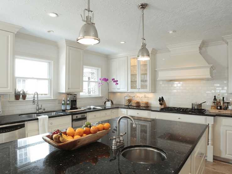 Fantastic kitchen with ivory kitchen with black