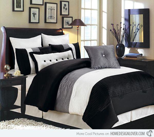 15 black and white bedding sets | white bedding set, white bedding