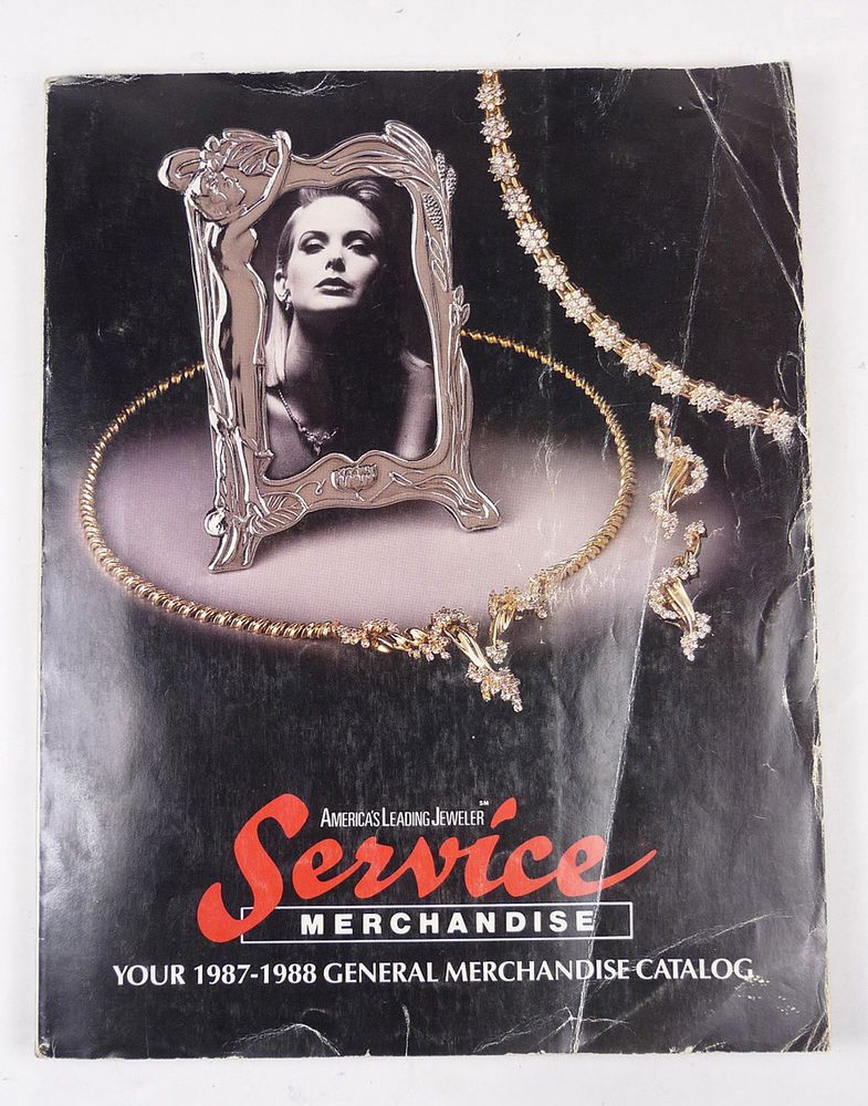 VINTAGE 80's 198788 SERVICE MERCHANDISE CATALOG JEWELRY