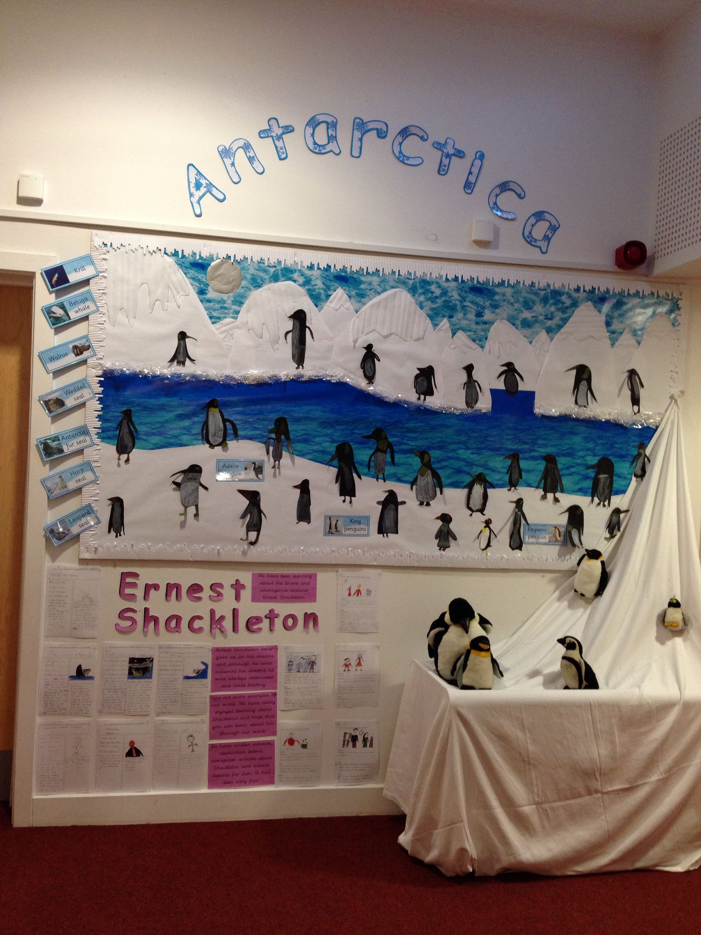 Antarctica arctic year 2 ks1 display A is for... arctic