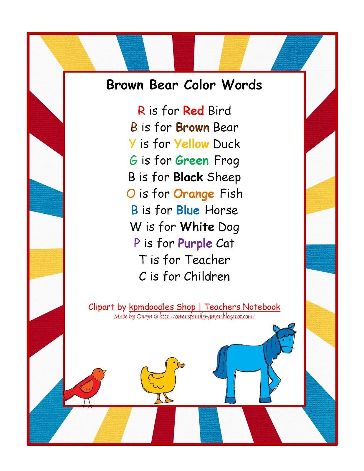 Brown Bear Printable Trace The Letters Fun 0 99