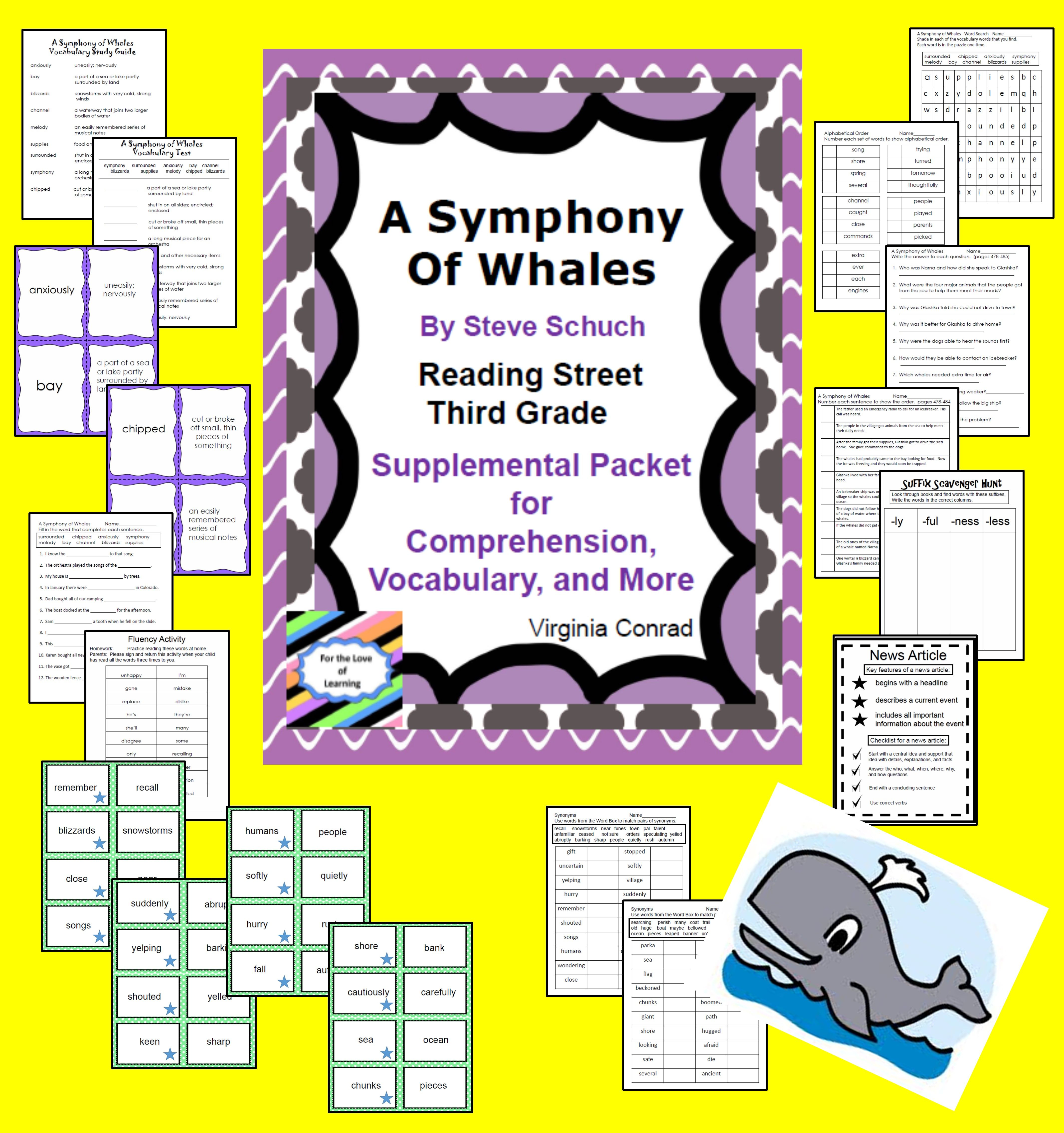 A Symphony Of Whales Supplemental Packet Reading Street Third Grade