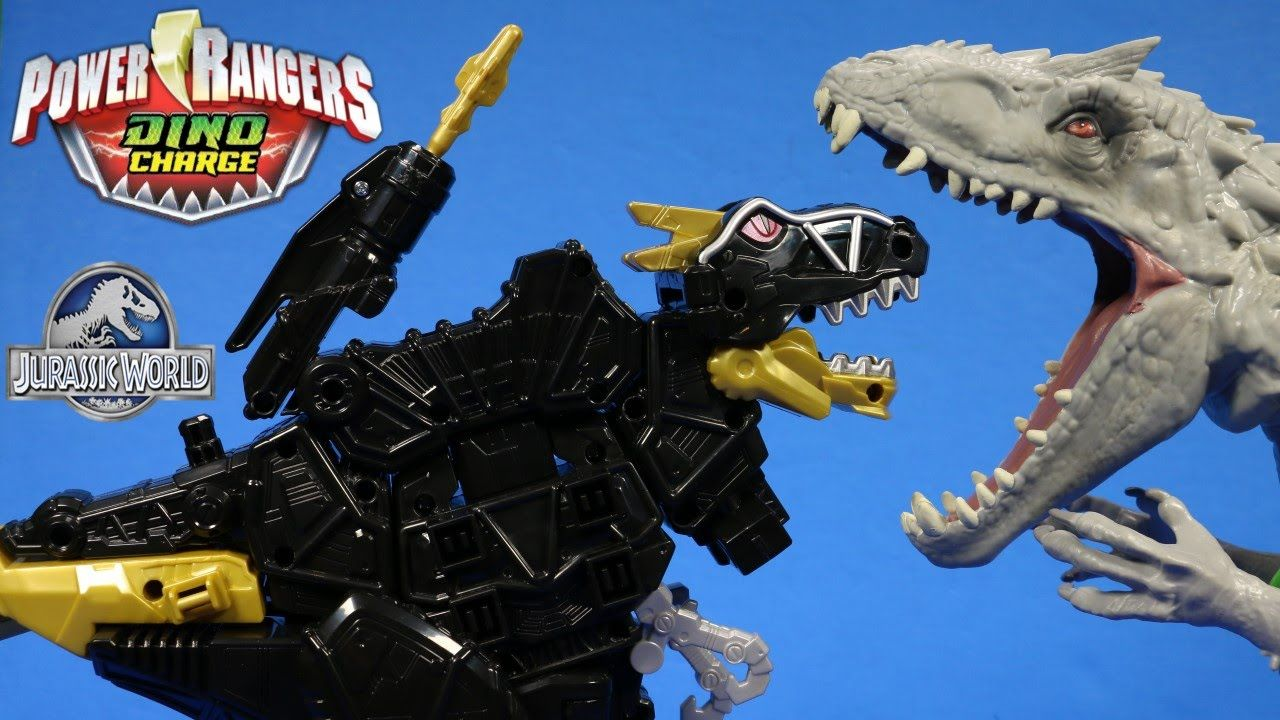 Power Rangers Deluxe Black TRex Zord Vs Indominus Rex
