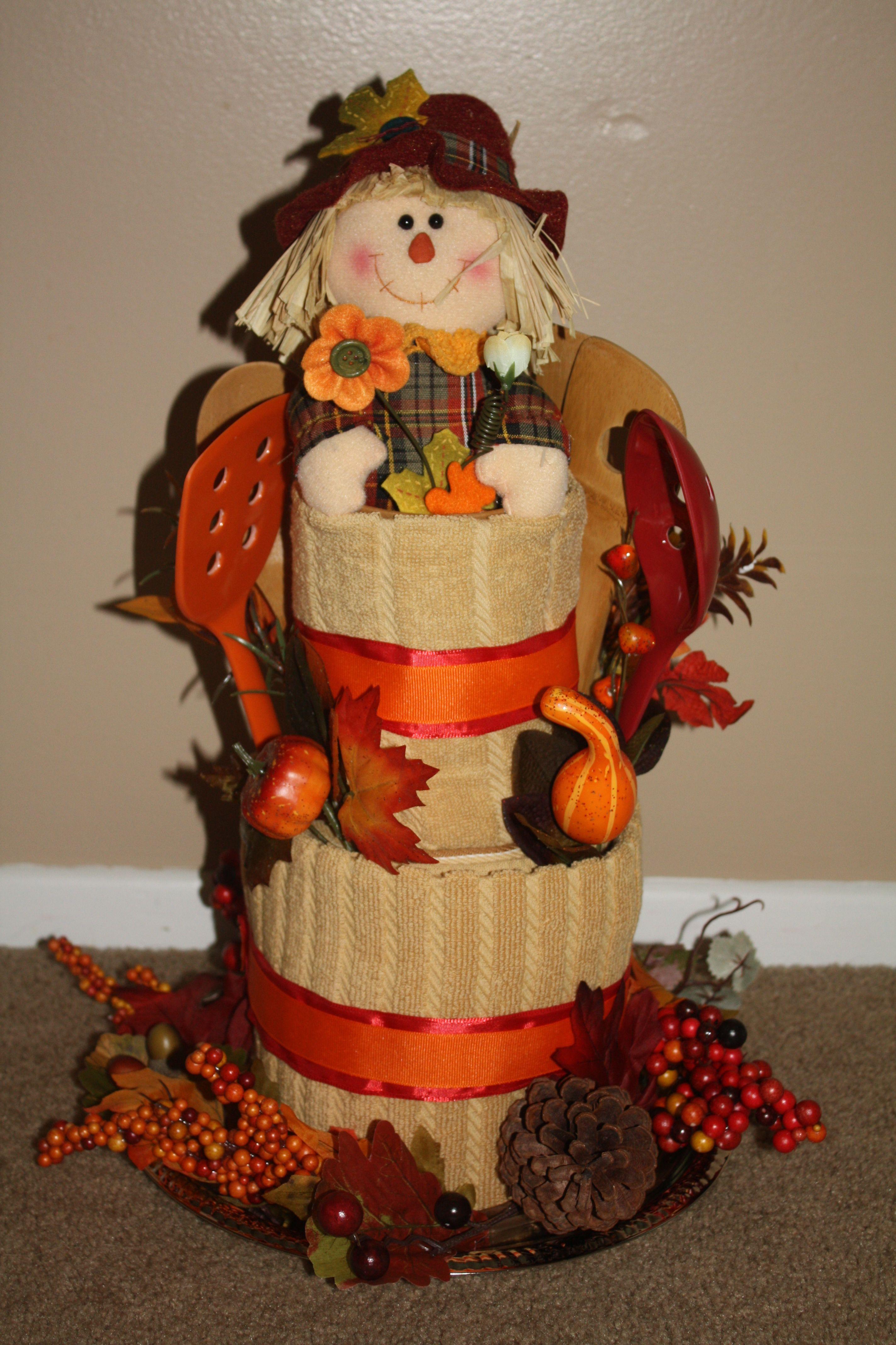 Fall Towel Cake