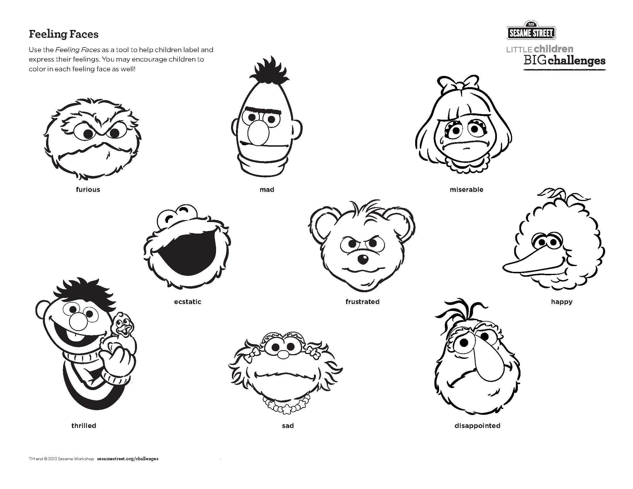 Use This Feeling Faces Printable As A Tool To Help Children Label And Express Their Feelings