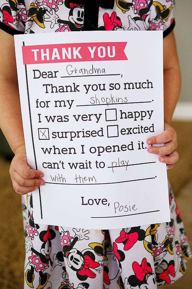 Thank You Letter for Kids Free printable, Birthdays and Free
