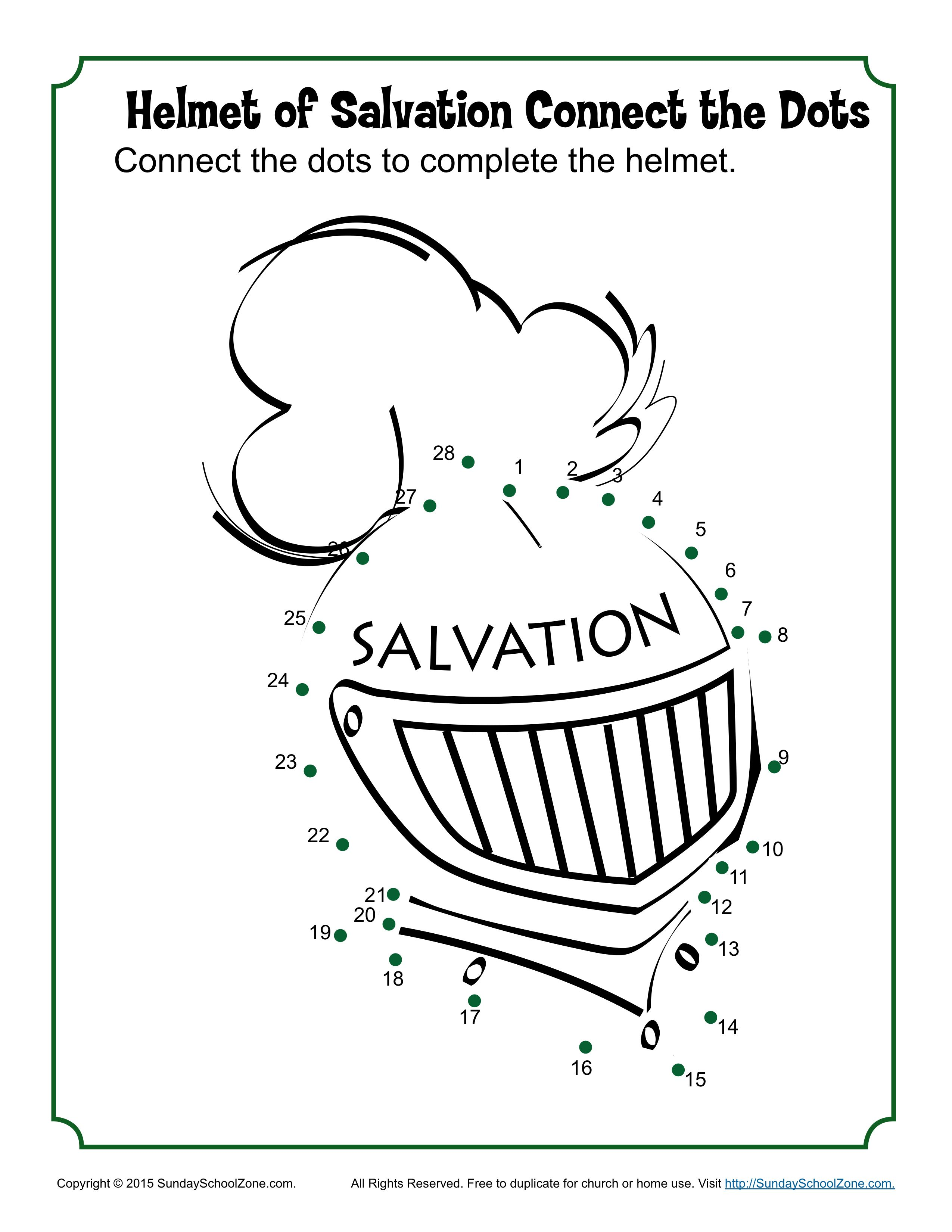 Helmet Of Salvation Connect The Dots