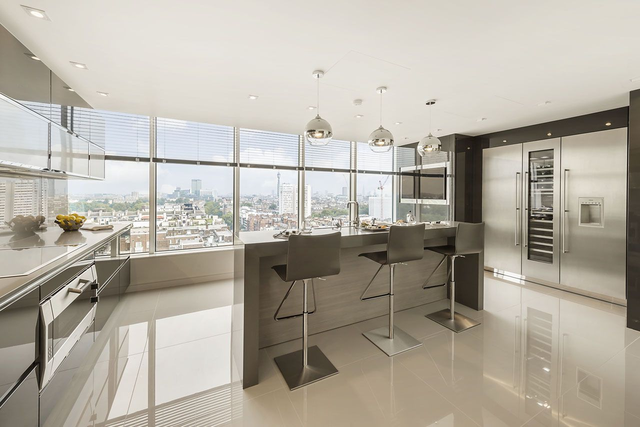 Luxury London Apartment kitchen in the sky Pinterest
