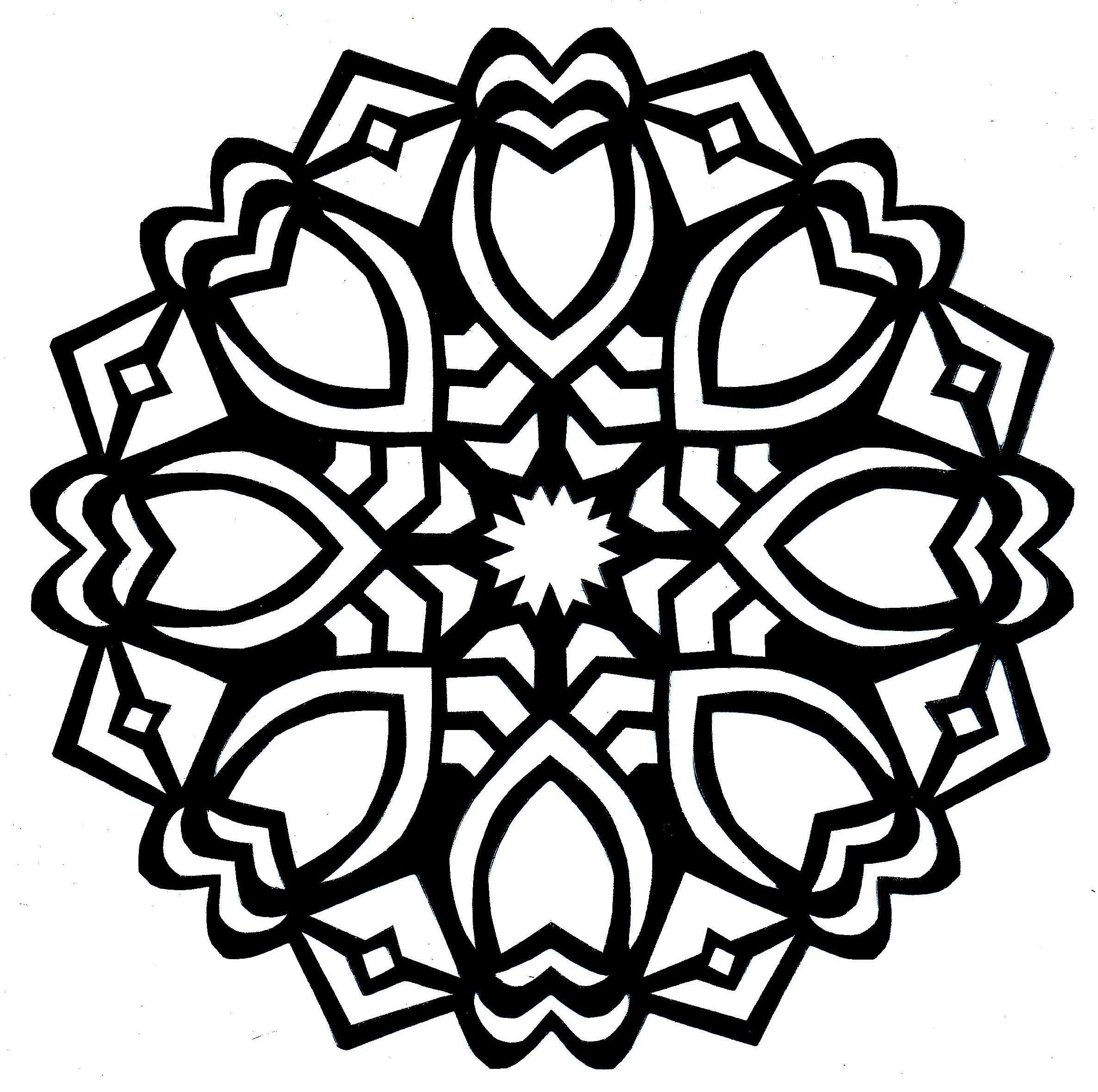 simple mandala coloring pages Google Search Circles
