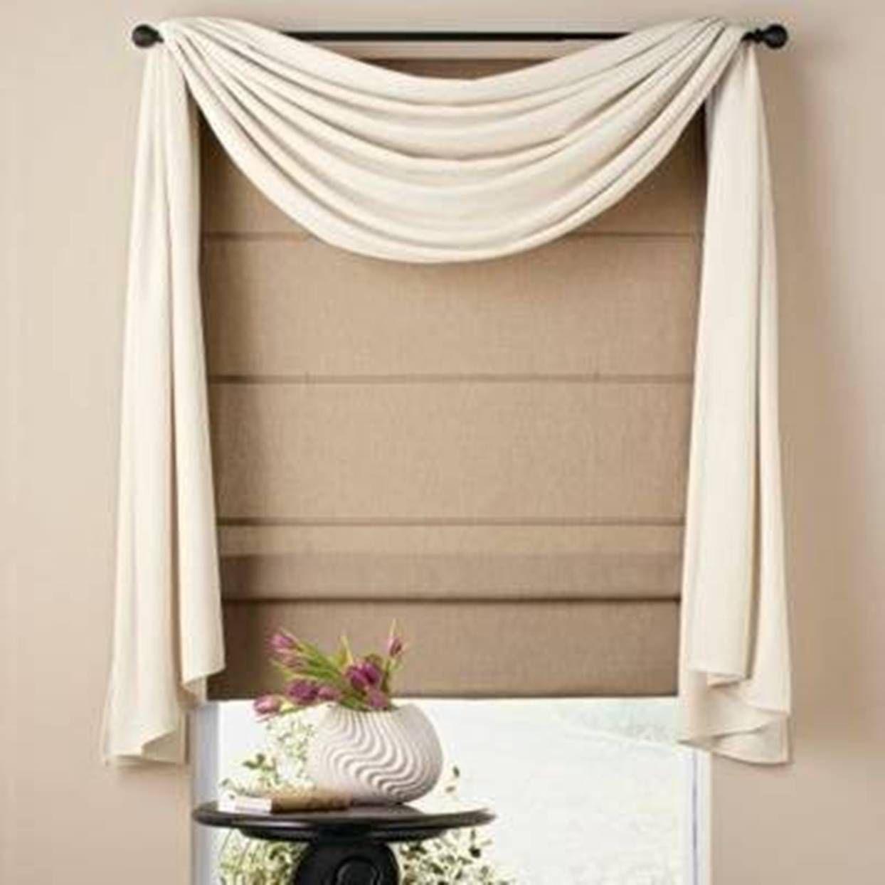 Home Design And Decor Pretty Window Scarf Ideas White