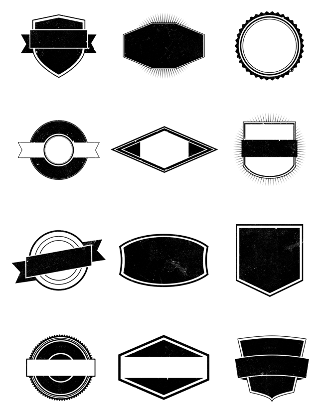 This free pack contains 12 completely vector shapes. They