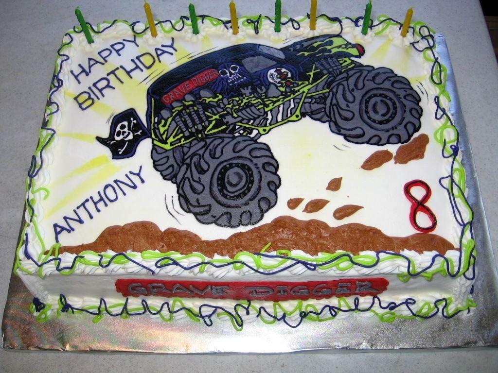 Big Monster Truck Cake Ideas