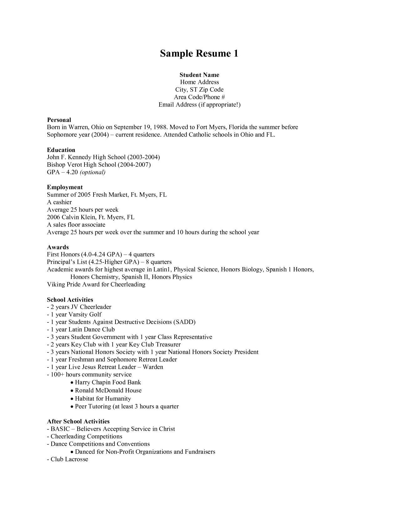 Cosmetology Student Cover Letter