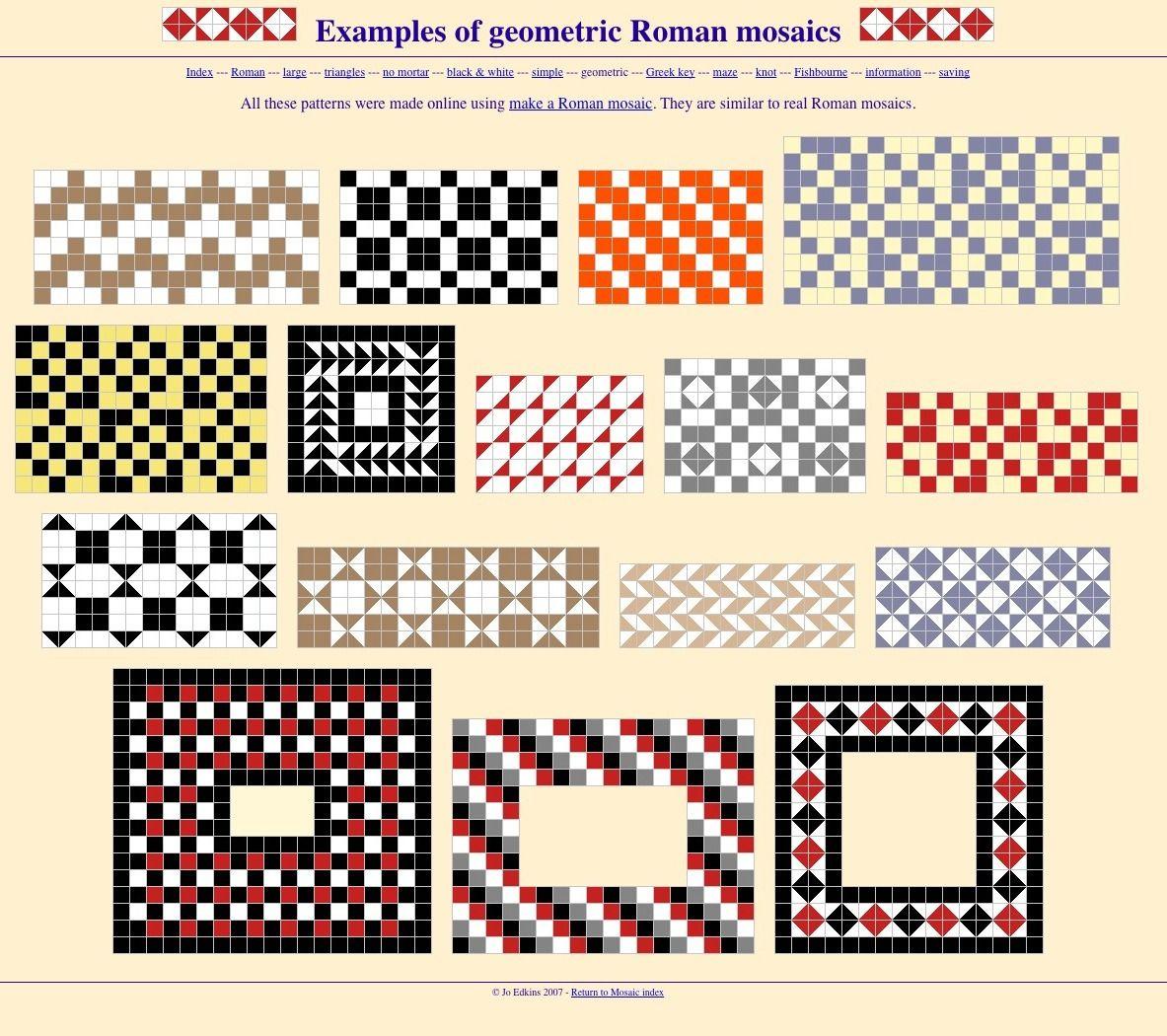 Examples Of Geometric Roman Mosaics