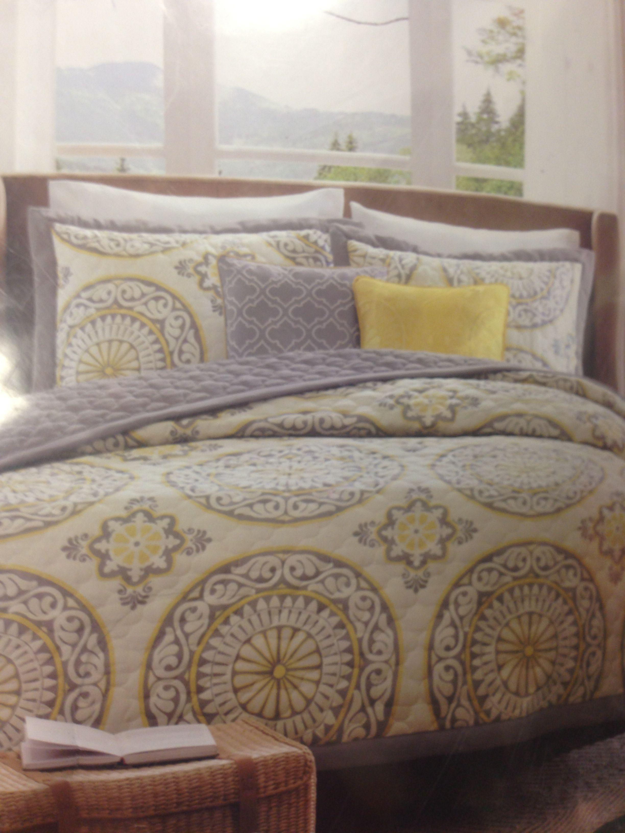 Grey & Yellow Bedding / Target