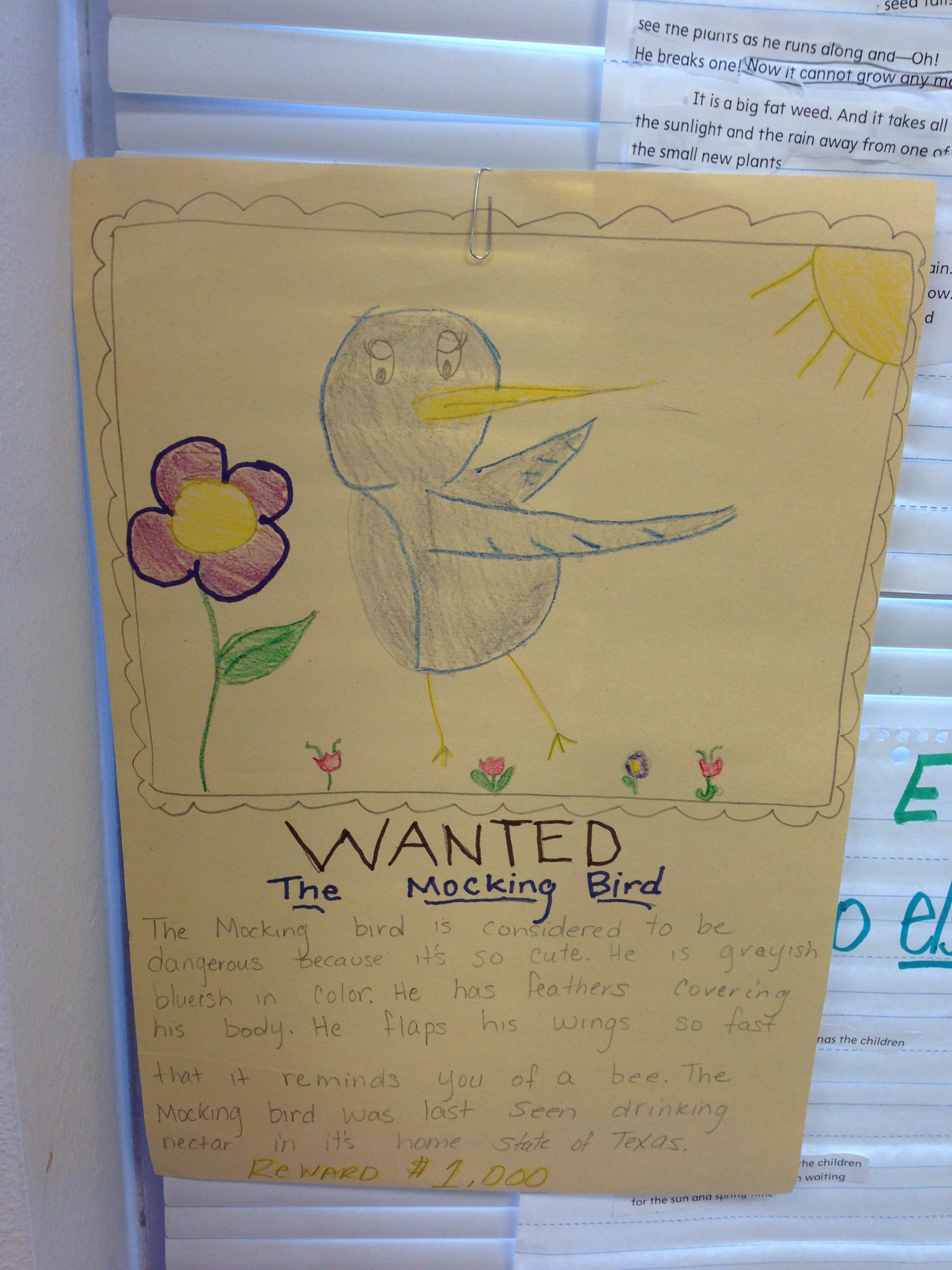 Animal Characteristics Wanted Poster For Endangered