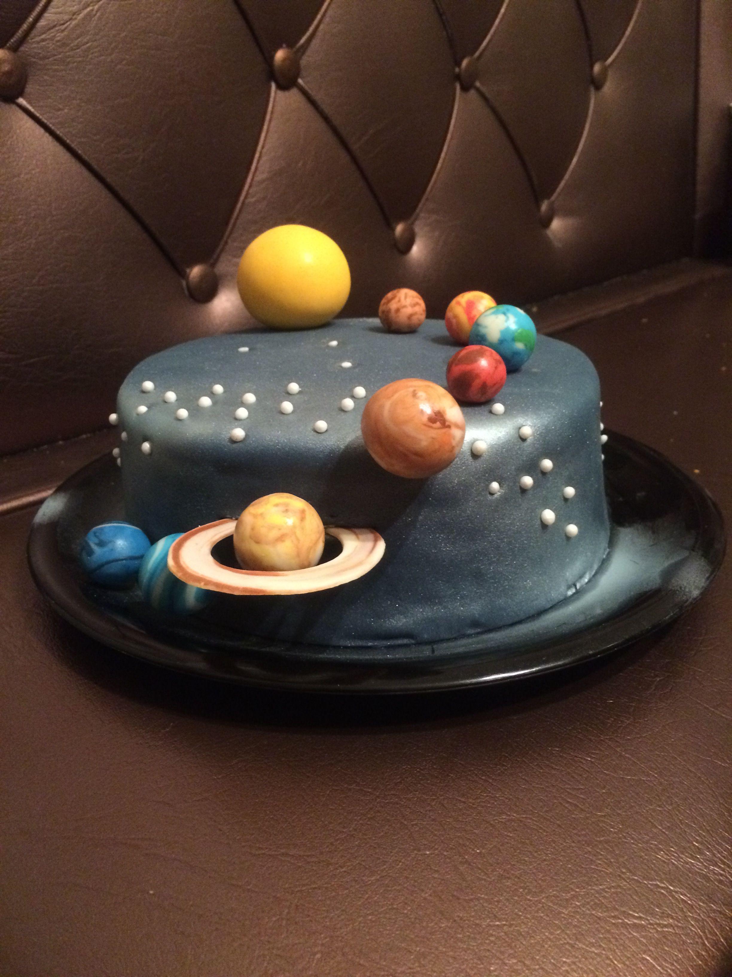 Solar System Cake Space Cake