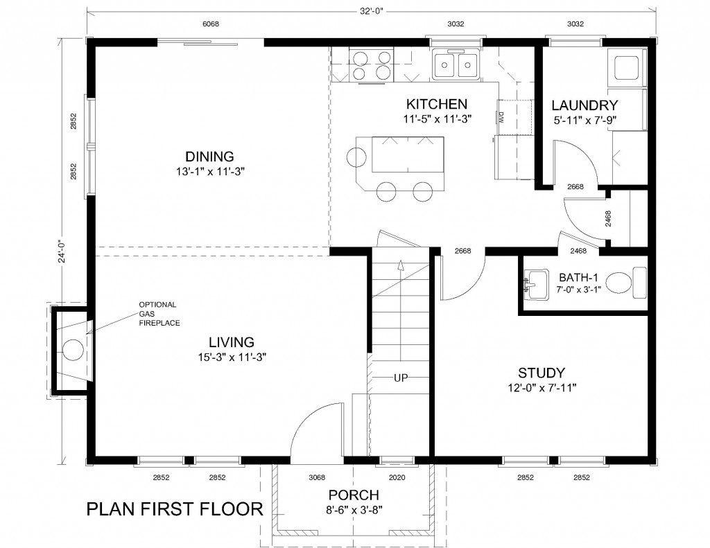 Open Concept Colonial Floor Plans