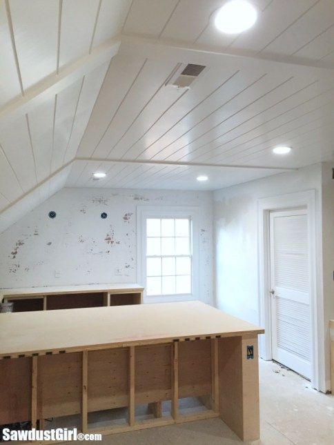 Plywood Plank Ceiling This Cost Only 400 Vs 3000 For