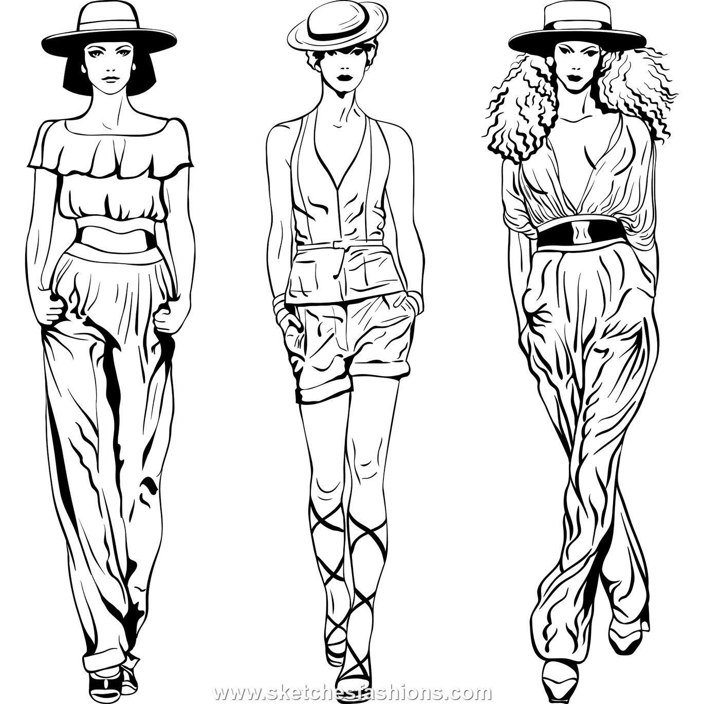 Fashion Figure Drawing Back Female body fashion sketch