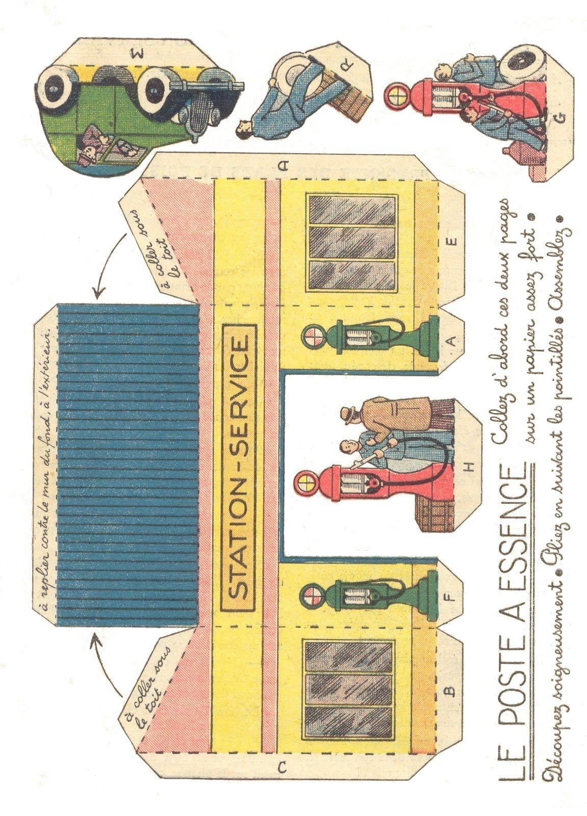 Vintage Gas Station Printable
