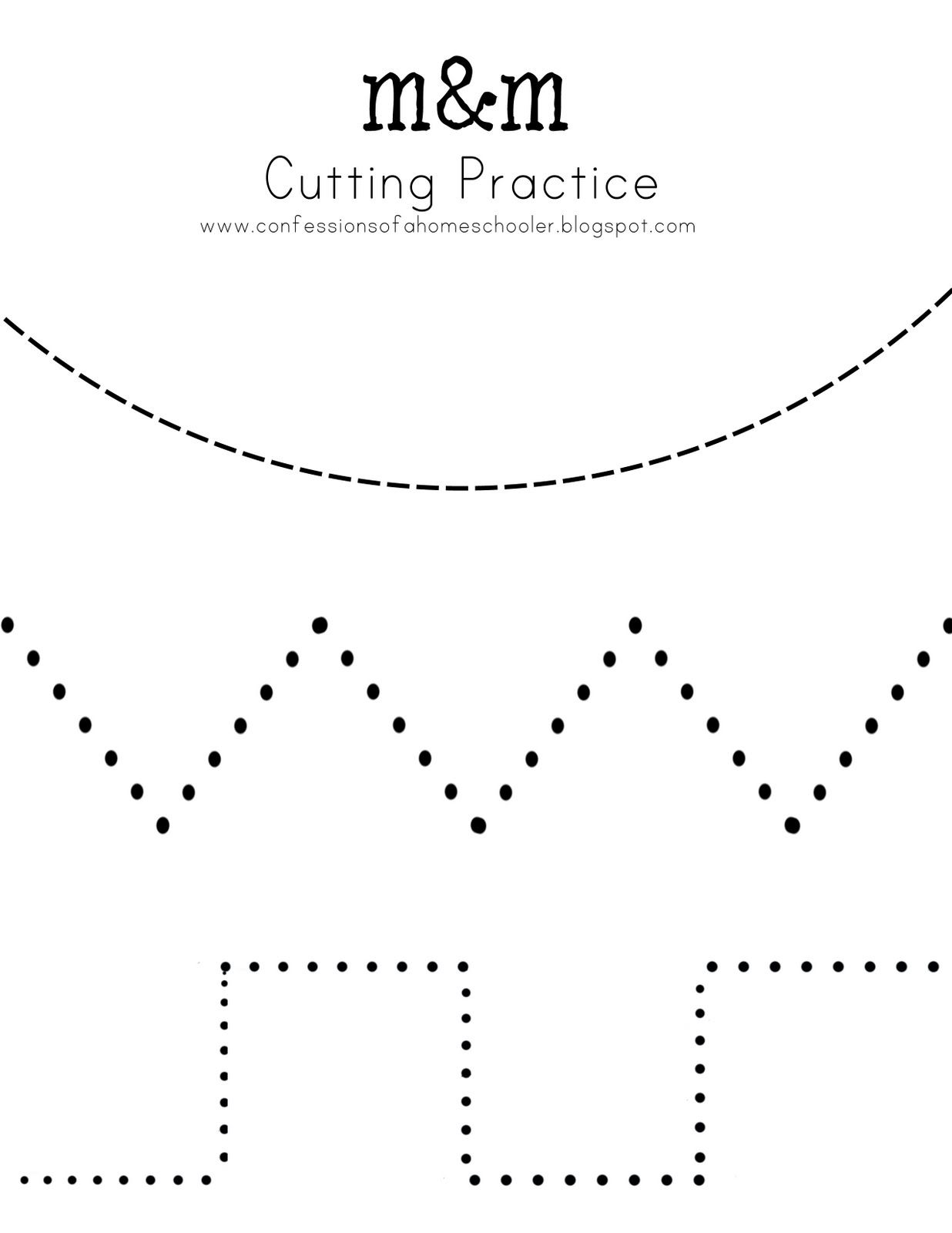 Cutting Practice And So Many Other Free Printables