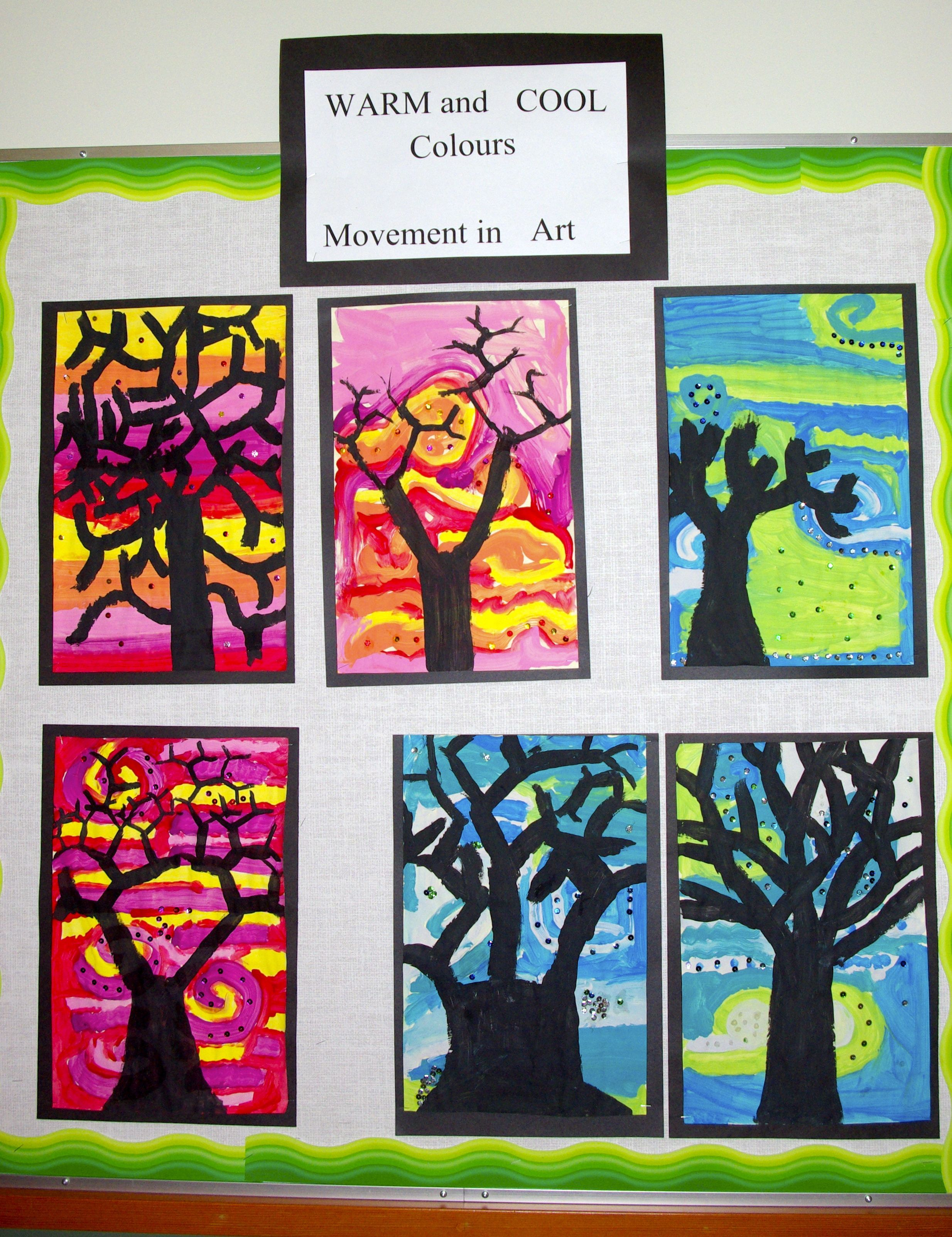 Grade 3 Warm And Cool Colours And Movement In Art