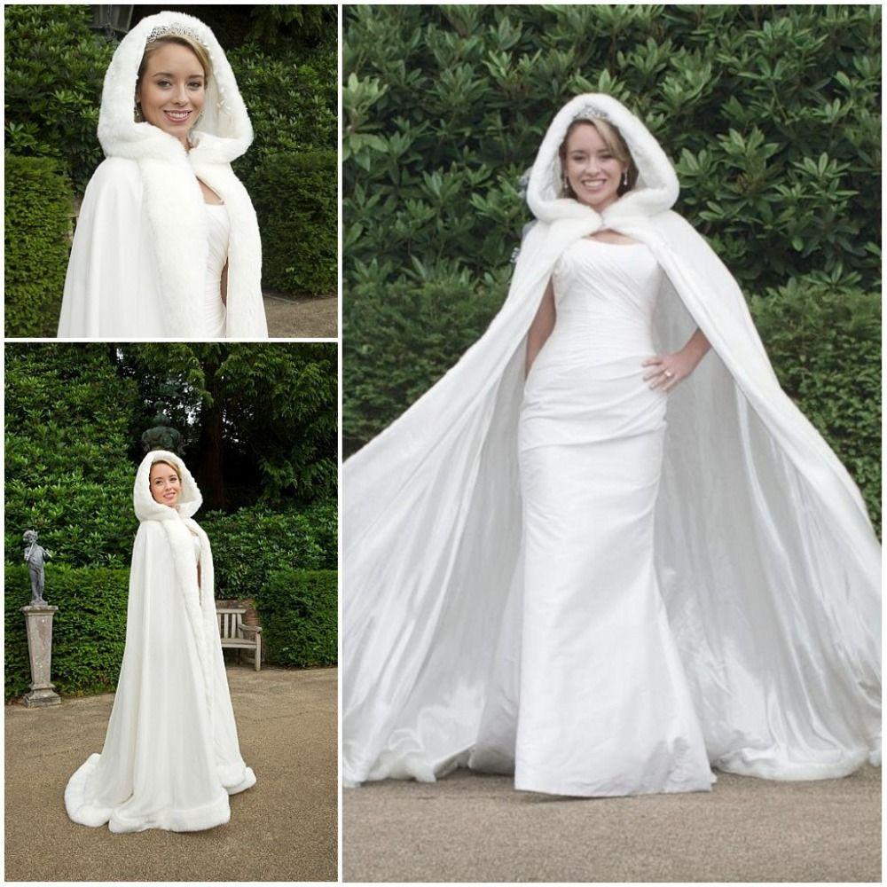 Wholesale Hot Bridal Cape Ivory Stunning Winter Wedding