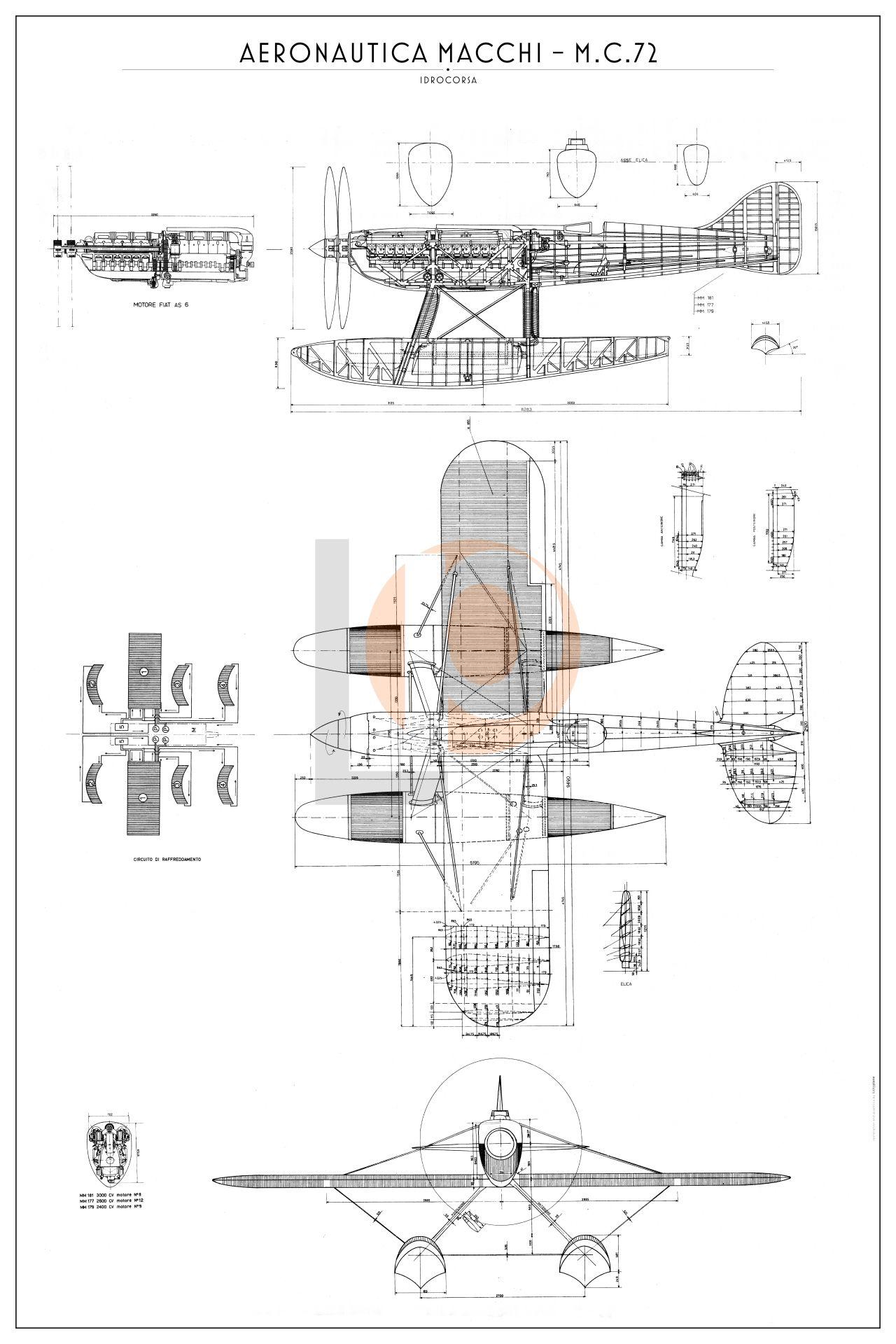 Idrocorsa Aercchi Mc 72 Cod Dw Mc72 84x126 Tre Viste