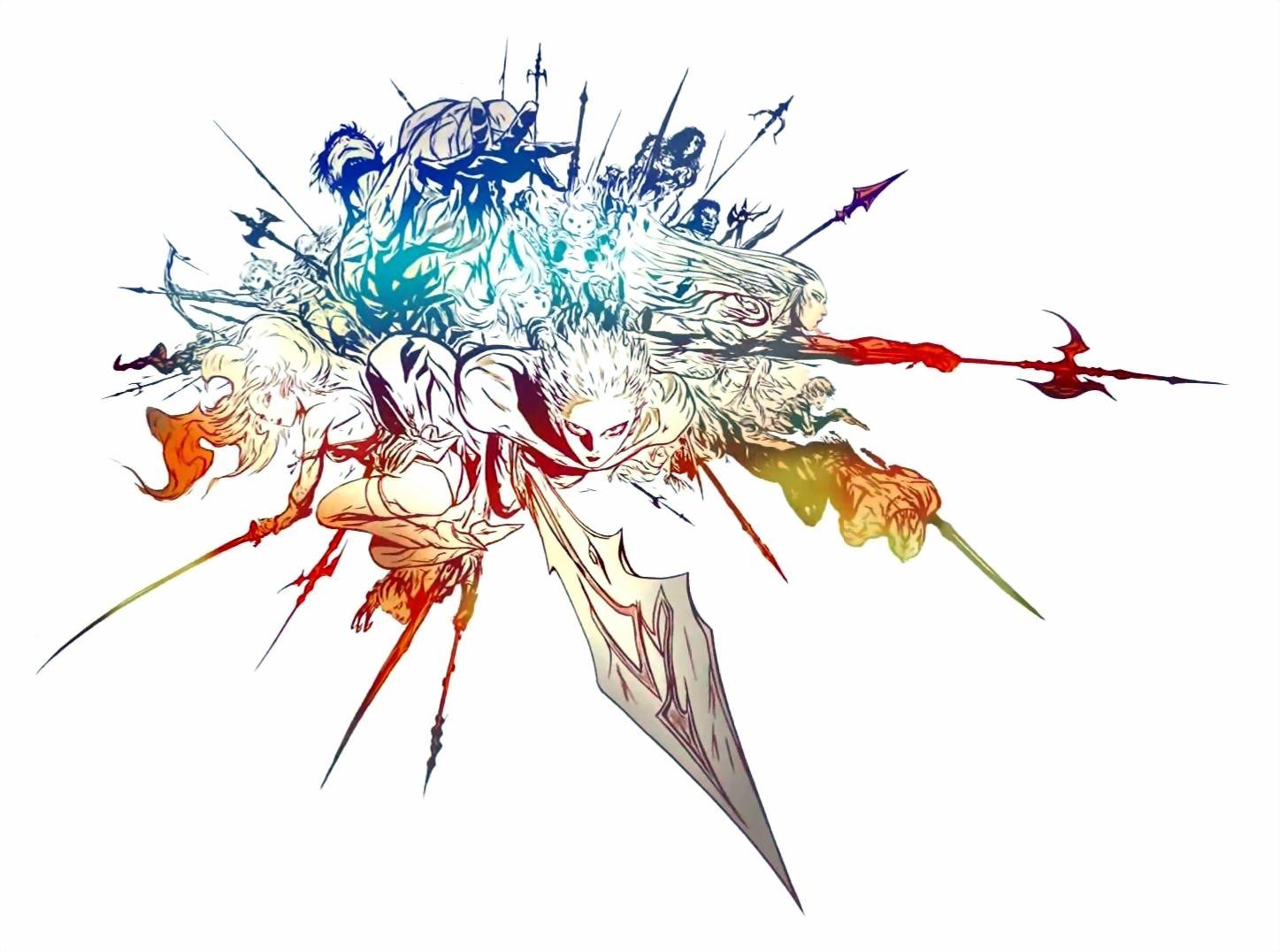 Final Fantasy XIV Logo Art Yoshitaka Amano Videogame