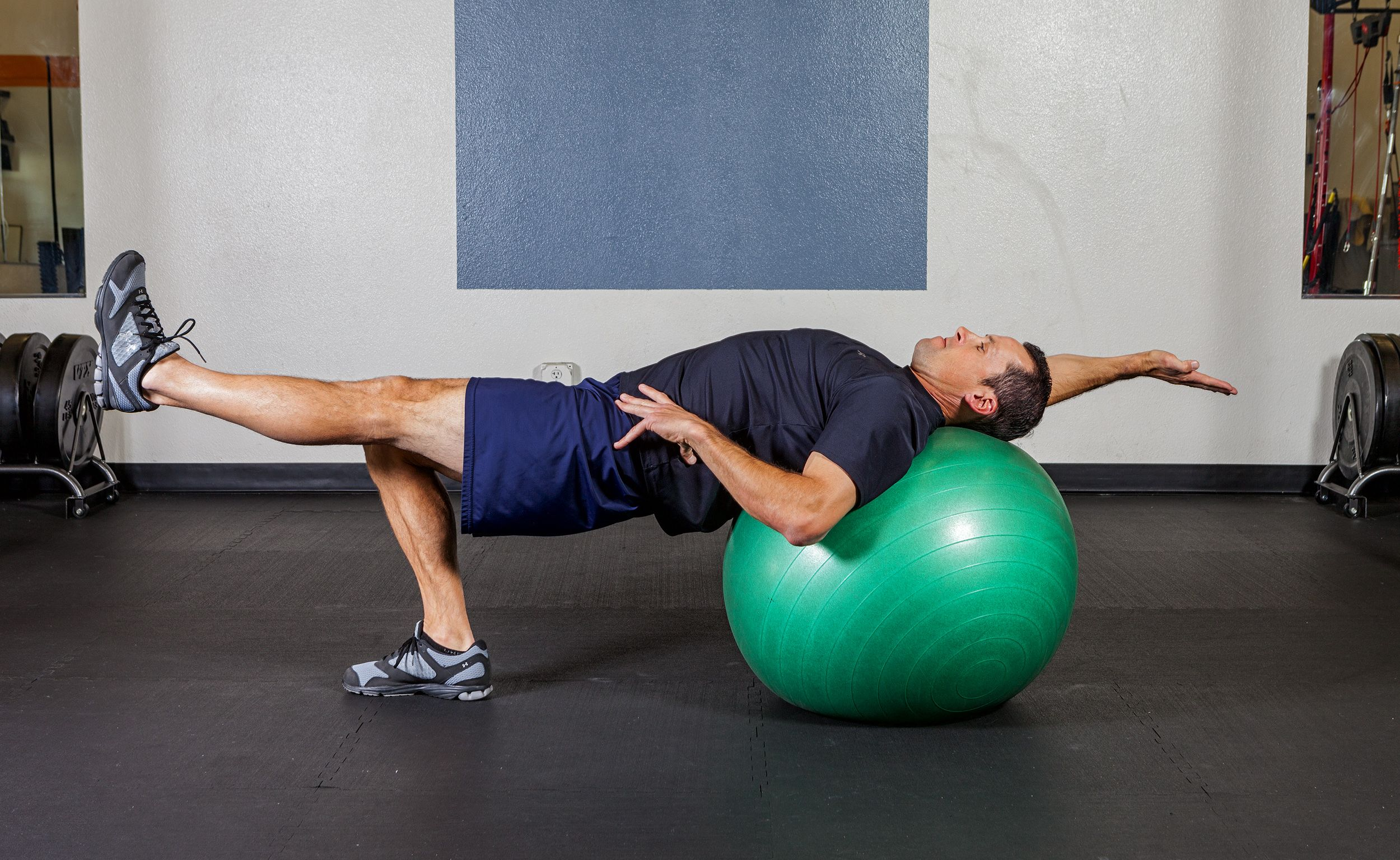 Exercise Ball Table Top w/ Alternating Arm & Leg Extension