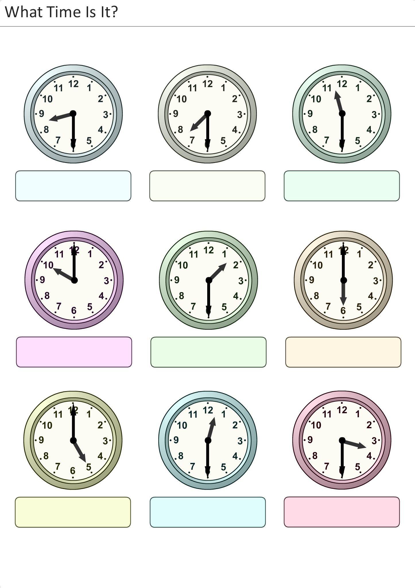 Atividades Para Criancas Para Imprimir Que Horas Sao 12