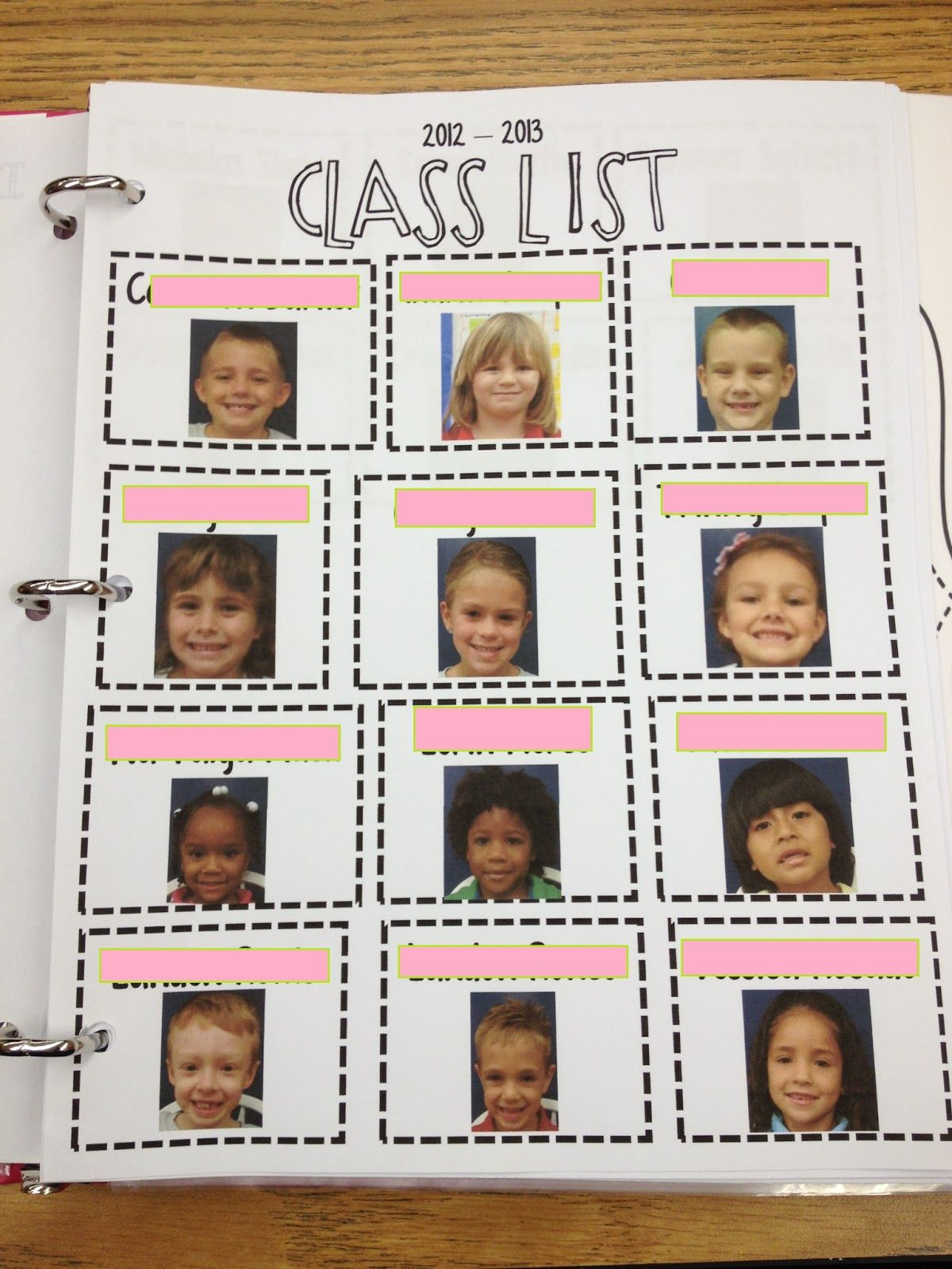 A Class List With Each Students Picture Perfect For A Sub