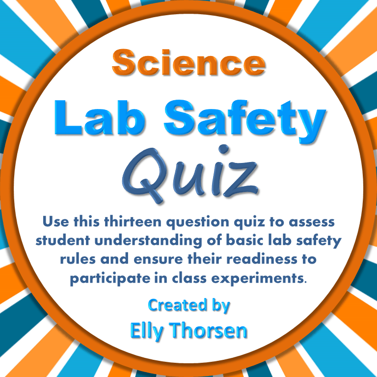 Science Lab Safety Quiz Middle school science, Safety