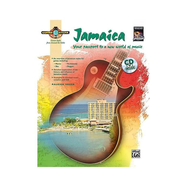 alfred guitar atlas: jamaica (book/cd) | products | pinterest | products