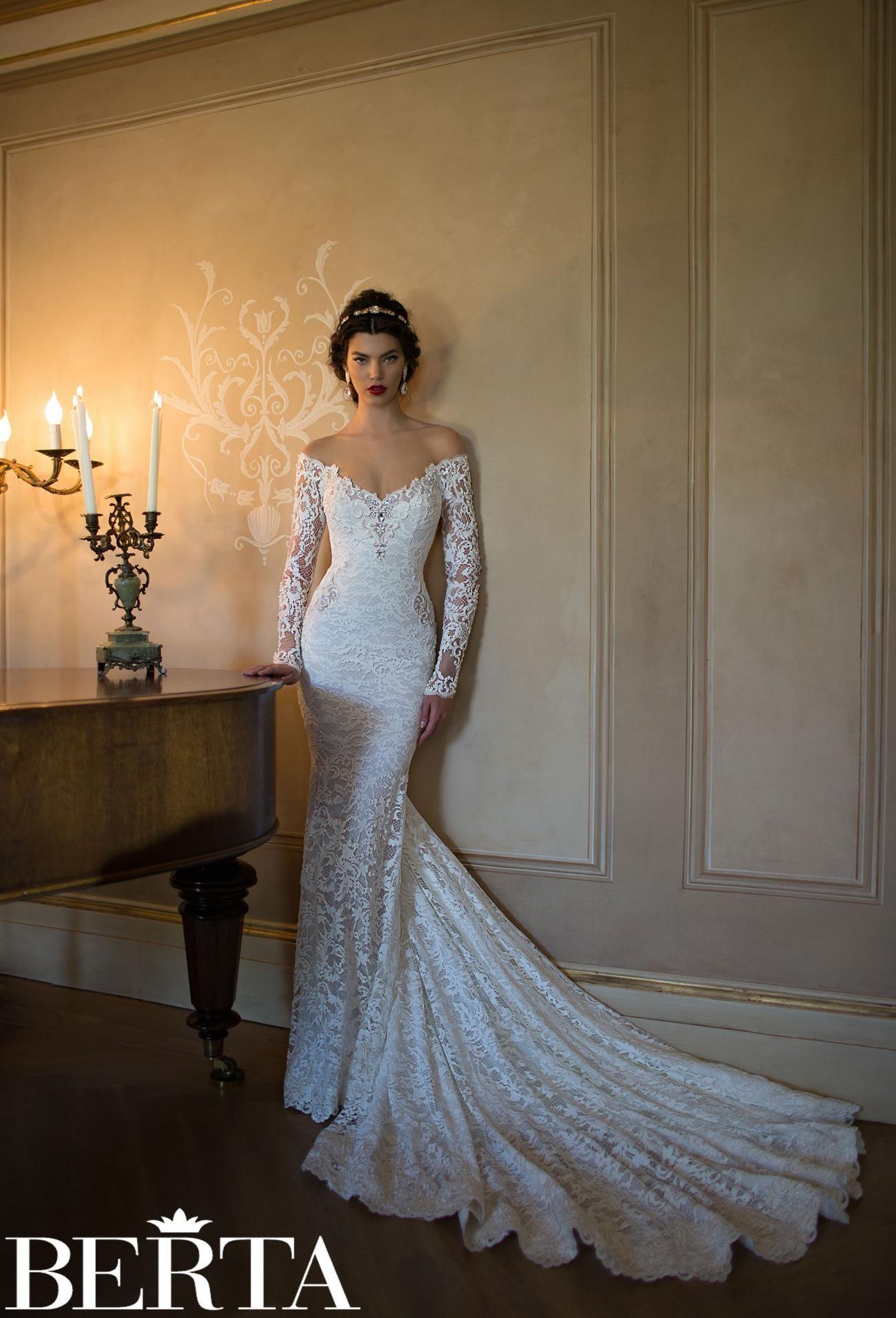Long Sleeve Wedding Dresses 2015 Lace mermaid, Mermaid