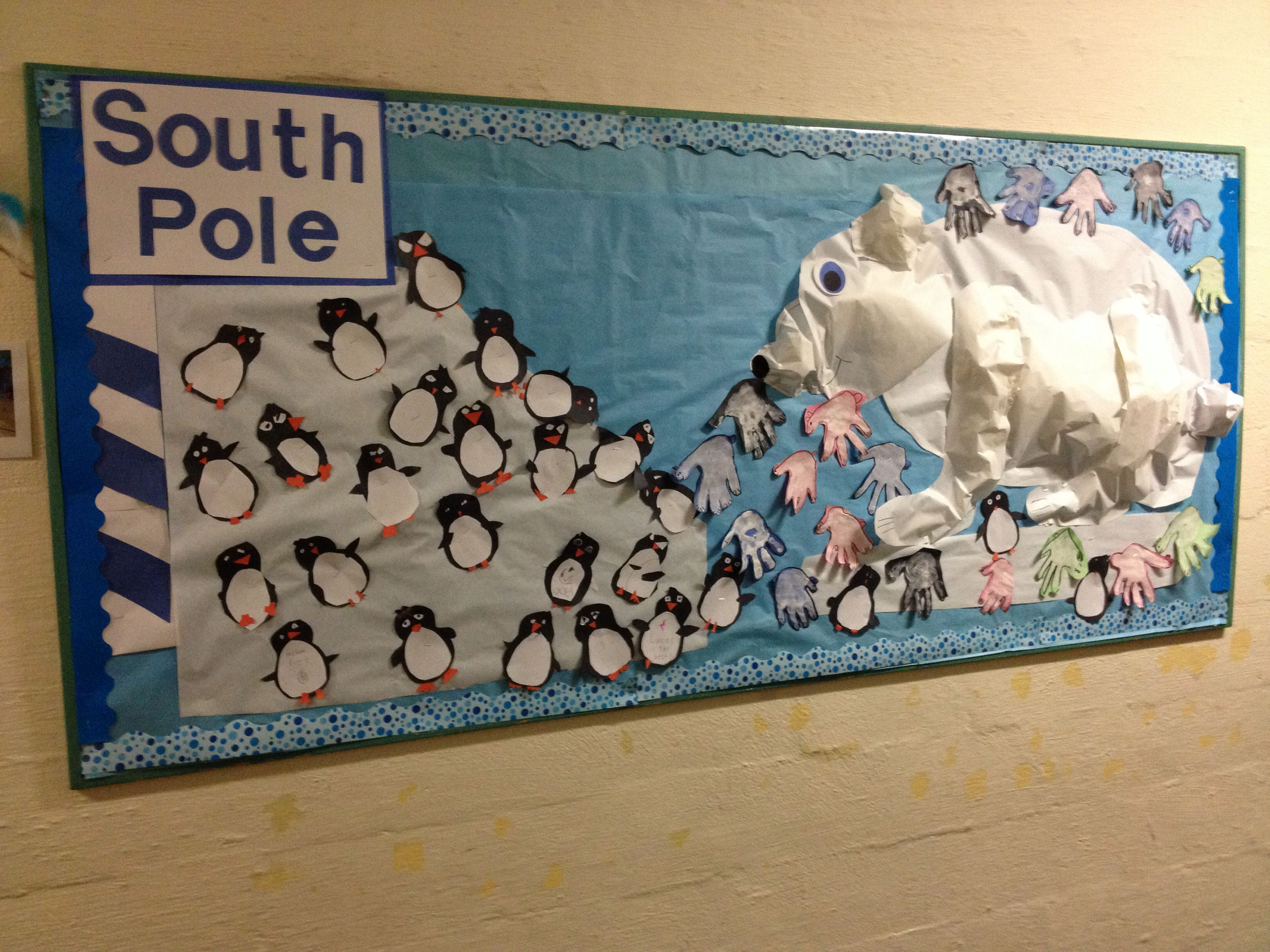 Winter Penguin And Polar Bear Bulletin Board