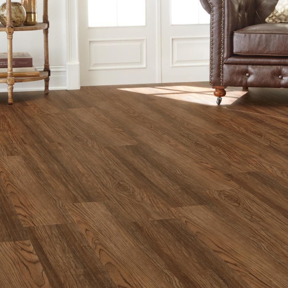 7.5 in. x 47.6 in. Charleston Oak Luxury Vinyl Plank