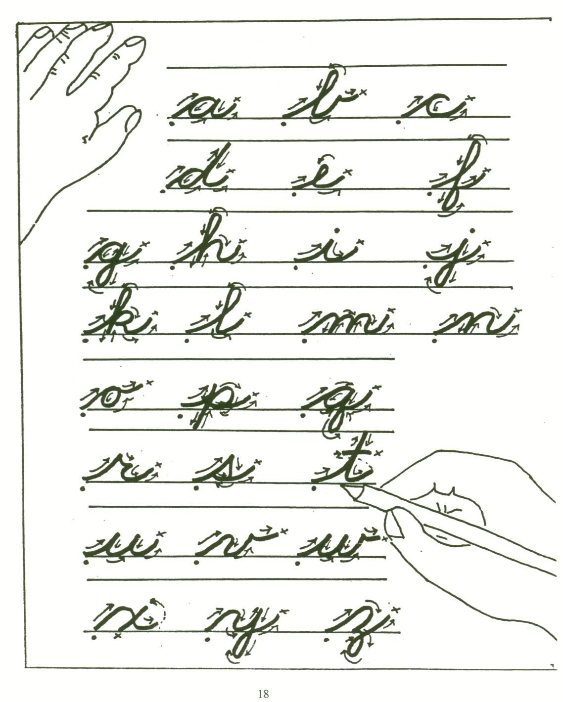 Practice Cursive Writing