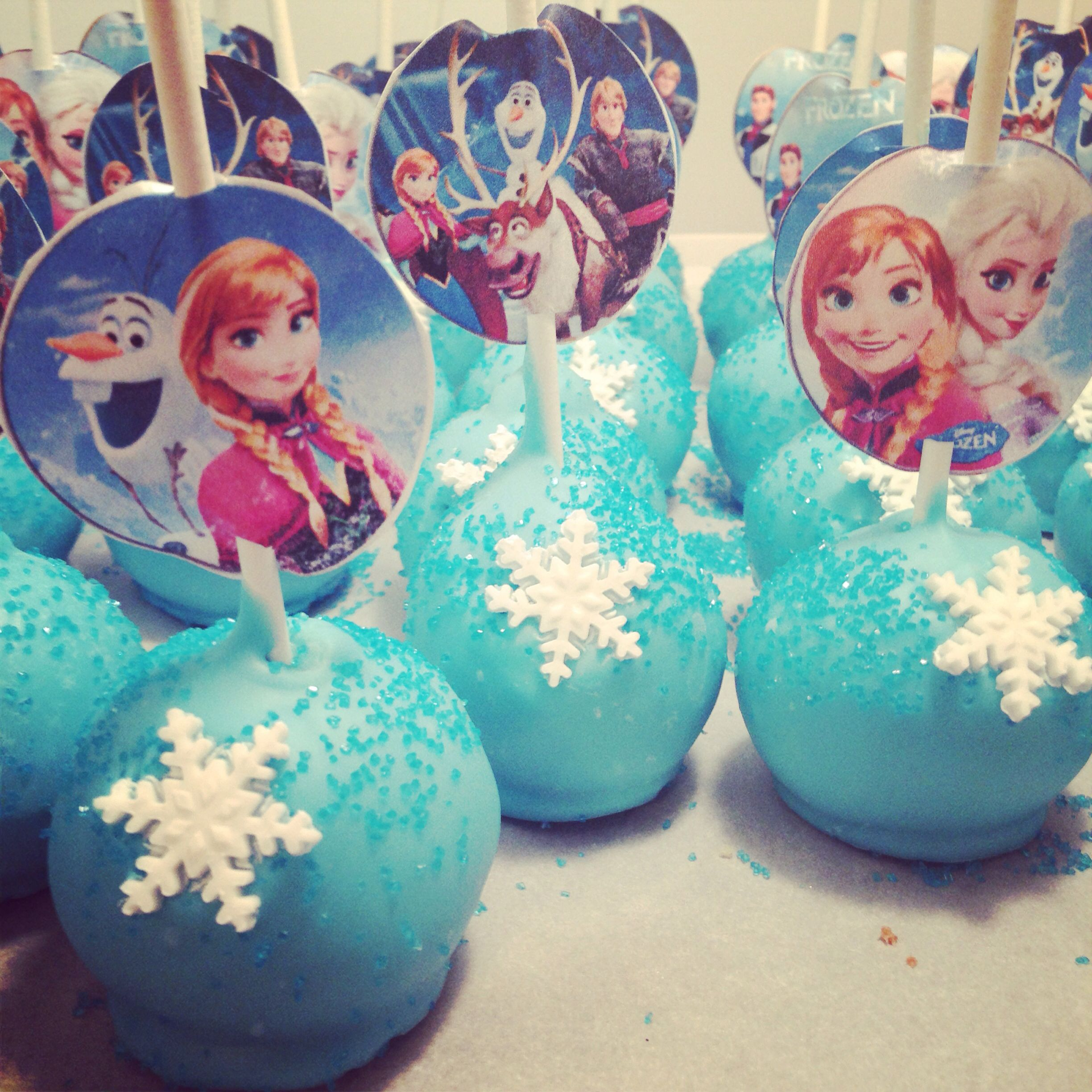 Frozen Cake Pops Ana And Elsa Cake Pops Frozen Theme