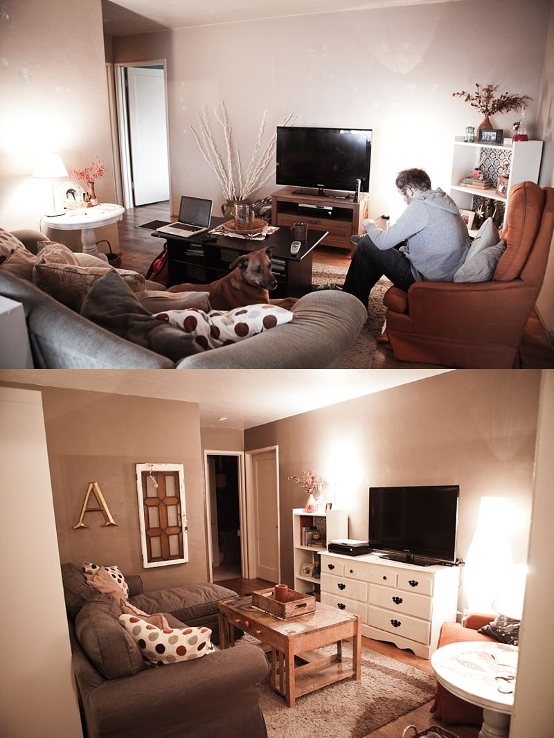 before/after small living room design | home is where the heart is