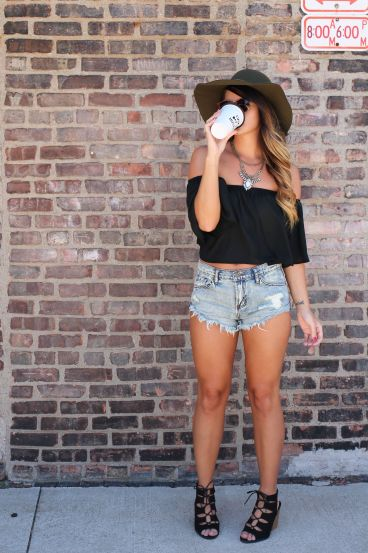 An off the shoulder top is the best boho outfits for any trip!