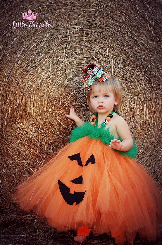 Pumpkin Tutu Dress....Jack O Lantern Dress......Infant