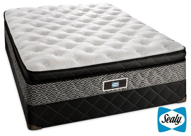 Mattresses And Bedding Sealy Echo Plush Queen Mattress Boxspring