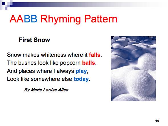 Rhyming Aabb