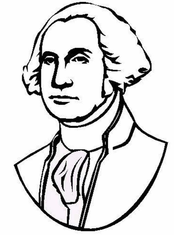 George Washington The Portrait Of United States 1st President Coloring Page