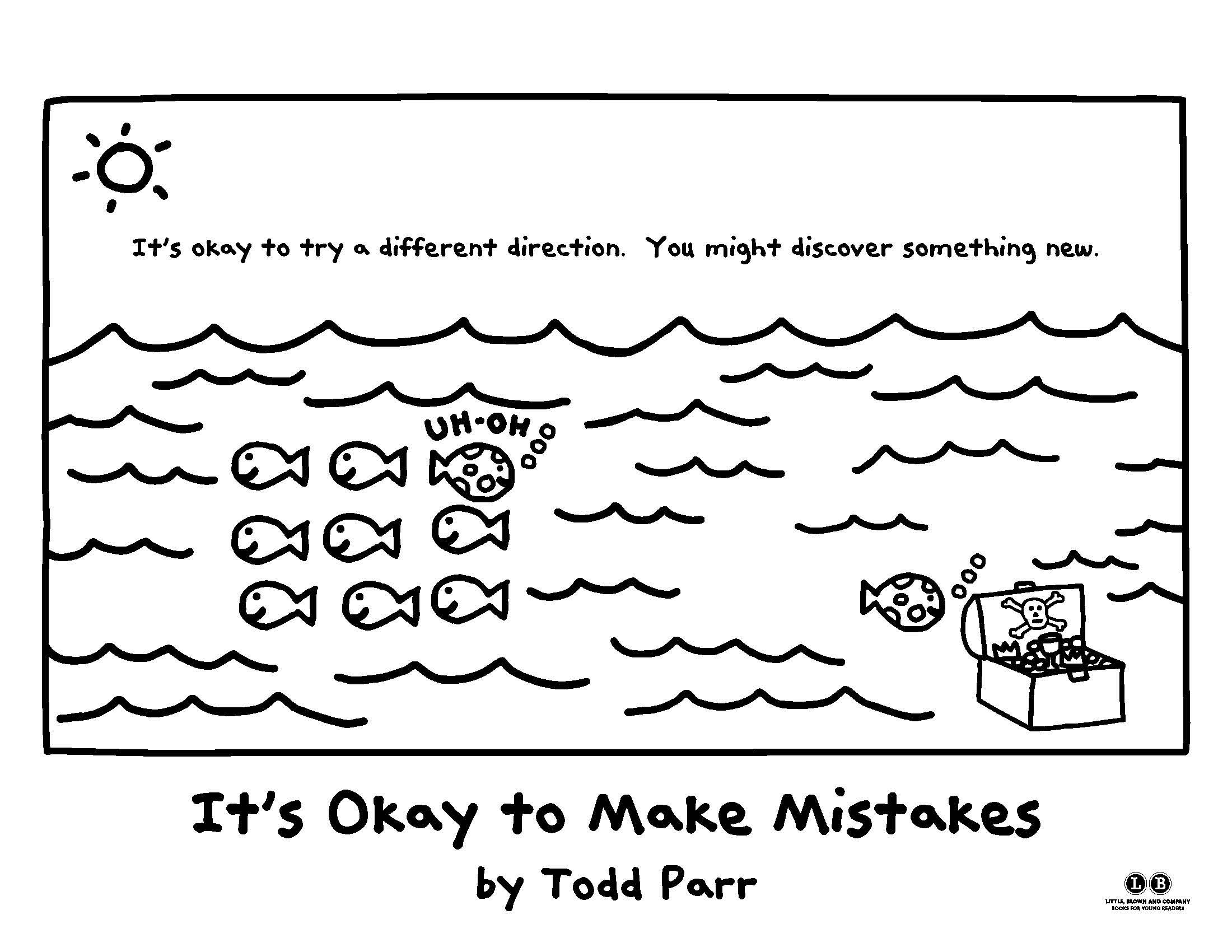 Color In Your Own Direction It S Okay To Make Mistakes