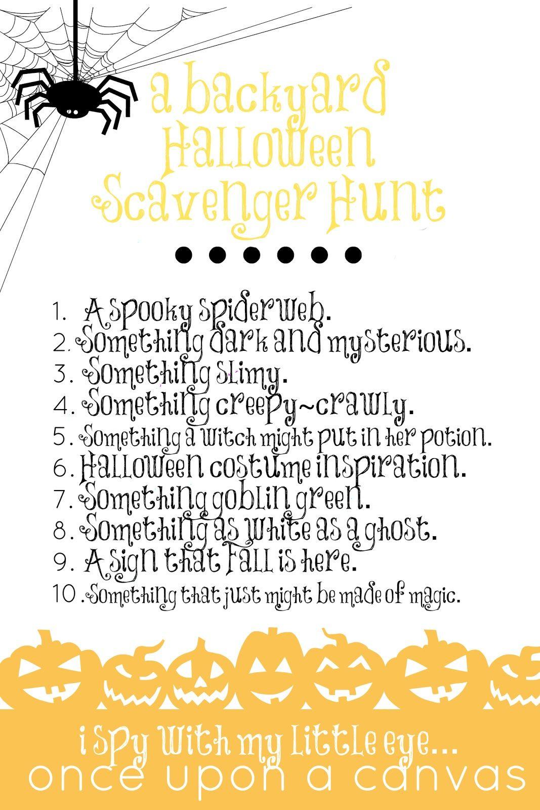 I Spy A Halloween Nature Scavenger Hunt